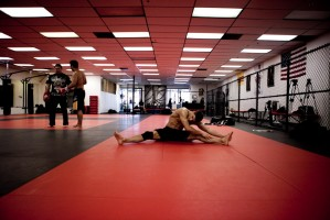 Josh Thomson stretching