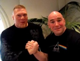 dana white with lesnar
