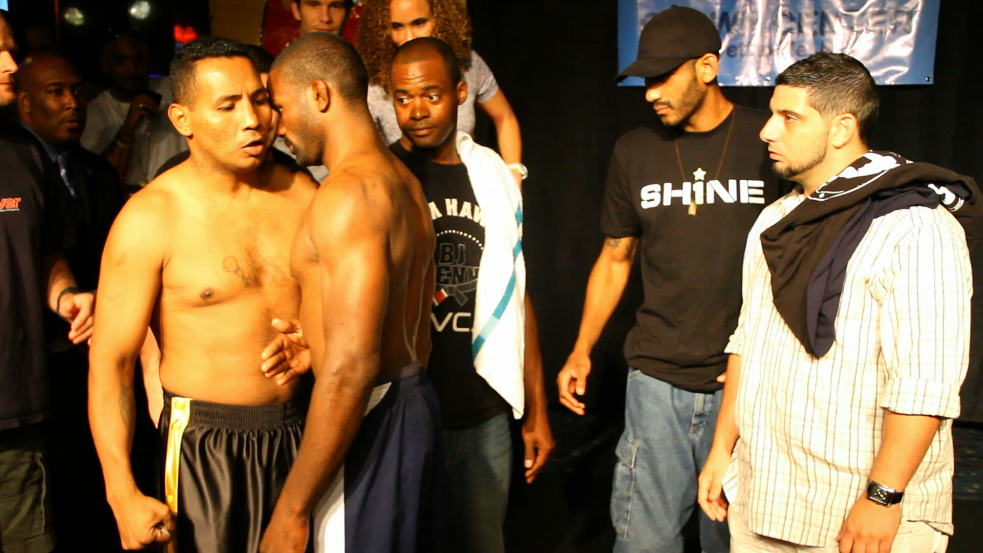 "Shine Fights 3: Worlds Collide"" weigh-in results, card"