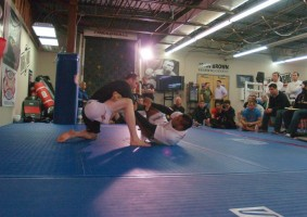 Brian Imes at the Bellator tryouts