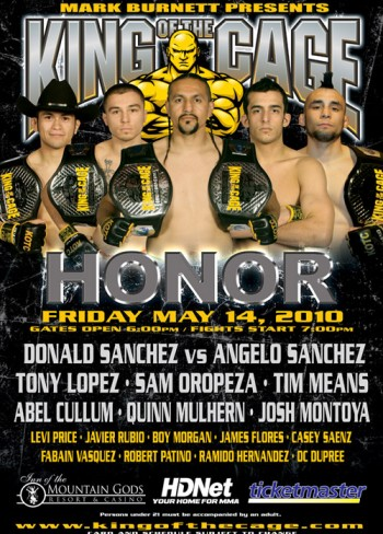 King of the Cage Announces Fight Card for Seneca Allegany