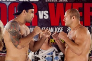 Abu Dhabi 2009 champion Fabricio Werdum (left) will face the world's number one ranked heavyweight Fedor Emelianenko live on Showtime Saturday night, June 26, 2010. Photo by Esther Lin/Strikeforce
