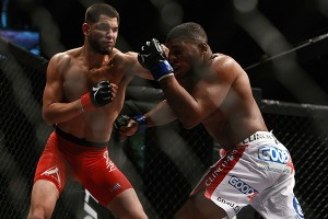 Jorge Masvidal scores with a left against Paul Daley at Shark Fights 13. Photo by Dave Mandel / Sherdog