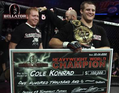 Bellator champ Cole Konrad retires; opts for financial trading over trading punches