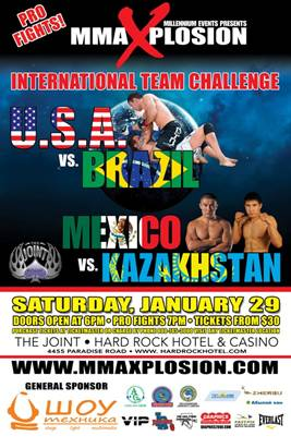 MMA Xplosion's January event to feature international team challenge at The Joint