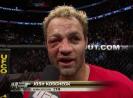 Jeff Joslin has faced Koscheck before and can verify both his toughness and the danger of fighting with a broken orbital.