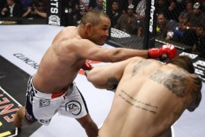 Dan Henderson (L) laid a beating on Babalu Sobral (R). Photo via Strikeforce.com.