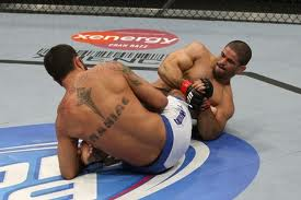 When Rousimar Palhares (right) attacks the leg, he usually gets the submission.
