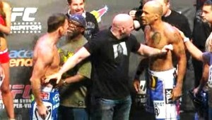 bisping and rivera face off