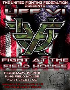 """The United Fighting Federation presents """"Fight at the Field House"""" at Fort Riley military base"""