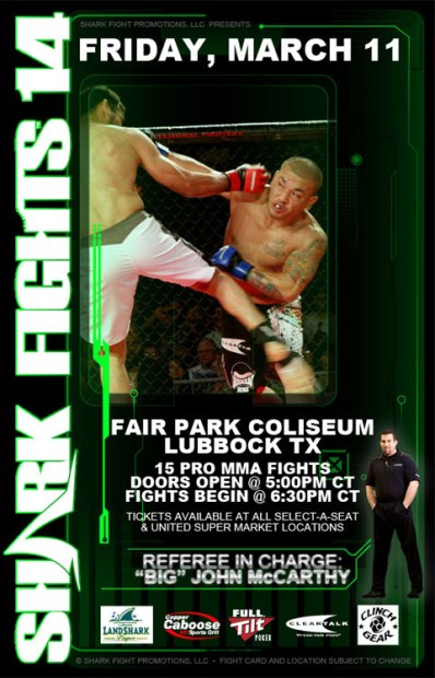 Shark Fight Promotions presents Matt Horwich vs. Danillo Villefort at Shark Fights 14 in Lubbock, Texas on March 11