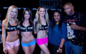 Julia Ymanova with Howard Davis Jr and Fight Time Promotions