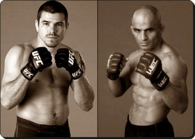 Dan Miller(left) will take on Kamal Shalorus at UFC 128
