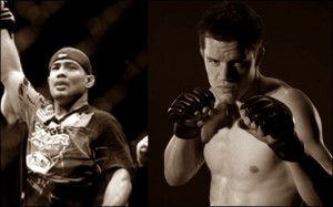 Mark Munoz(left) took out C.B. Dollaway at the UFC Live 3 event