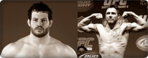 Nate Marquardt(left) outclassed  Dan Miller at UFC 128