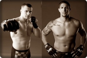 Mirko Cro Cop(left) fell victim to Brendan Schaub at UFC 128