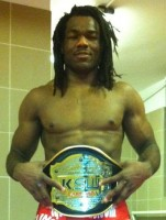 Rameau Thierry Sokoudjou shortly after winning the KSW light heavyweight title.