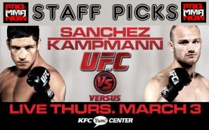 ufc live 3 STAFF PICKS