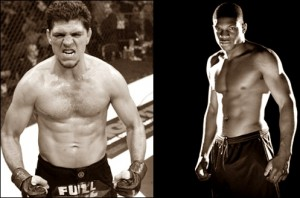 Nick Diaz(left) will defend his Strikeforce welterweight title against Paul Daley