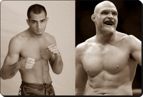 Gegard Mousasi(left) and Keith Jardine fought to a majority draw
