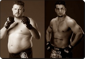 Roy Nelson(left) will face Frank Mir at UFC 130