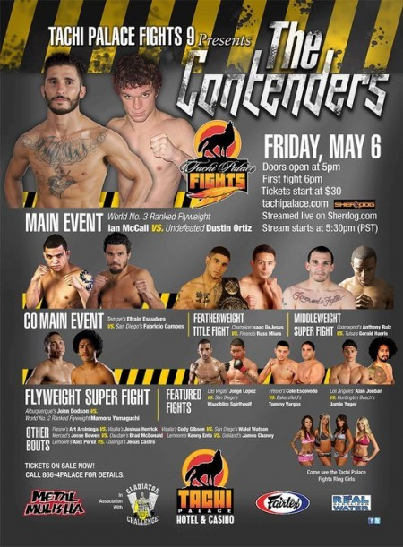 """Tachi Palace Fights 9: Contenders"" – fight videos"