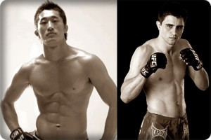 Dong Hyun Kim(left) takes on Carlos Condit at UFC 132