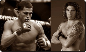 Anthony Pettis(left) takes on Clay Guida at the TUF 13 Finale