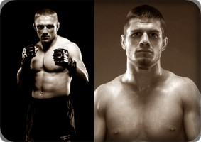 Dennis Siver(left) will take on Matt Wiman at UFC 132