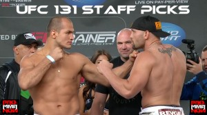 UFC 131 - staff picks