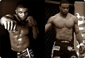 Paul Daley(left) looks to take out Tyron Woodley