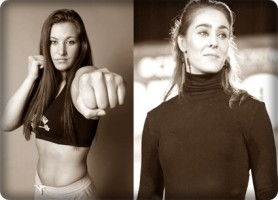 Miesha Tate(left) will face Marloes Coenen at Strikeforce: Fedor vs. Henderson