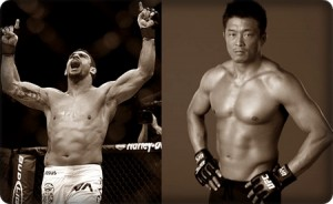 Vitor Belfort(left) will do battle with Yoshihiro Akiyama at UFC 133