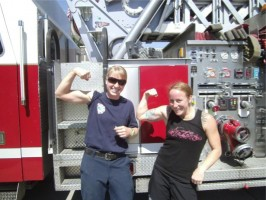 Bri and P  gun show!