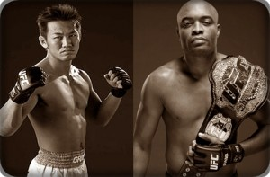 Yushin Okami(left) will fight Anderson Silva at UFC 134