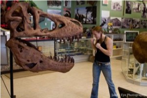 T Rex face off