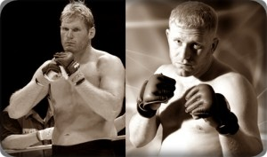 Josh Barnett(left) looks to advance to Strikeforce Heavyweight GP Finals against Sergei Kharitonov