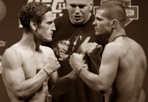 Mac Danzig(left) will face Matt Wiman at UFC on Versus 6