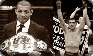 Jose Aldo(left) will face Kenny Florian at UFC 136