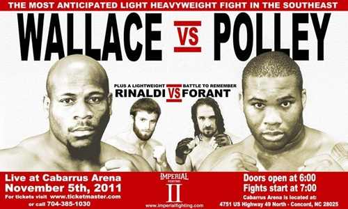 Imperial Fighting II: Wallace vs. Polley set for November 5th in Concord, North Carolina