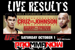 UFC ON VERSUS 6 LIVE RESULTS