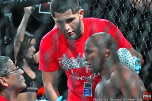 alexis vila with jorge masvidal in corner