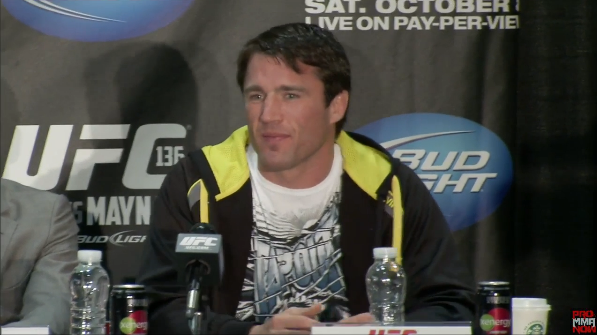 Chael Sonnen will move to light heavyweight division and face Forrest Griffin in December