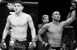 Nick Diaz(left) will face BJ Penn at UFC 137