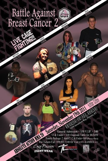 """Absolute Action MMA 20: Battle Against Breast Cancer 2"" results and play-by-play"
