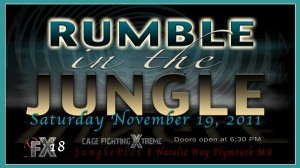 "Cage Fighting Xtreme 18: ""Rumble in the Jungle"" set for November 19th"