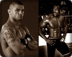Thiago Alves(left) will face Papy Abedi at UFC 138