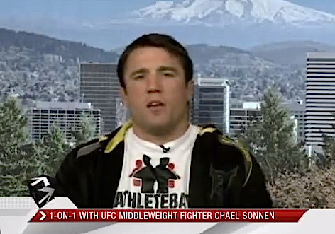 ESPN Sports Center: Chael Sonnen reacts to Jon Jones turning down fight at UFC 151 *VIDEO*