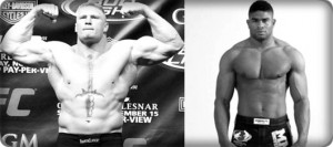 Brock Lesnar(left) will face Alistair Overeem at UFC 141