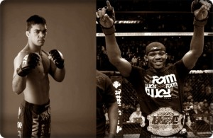 Lyoto Machida(left) will face Jon Jones at UFC 140